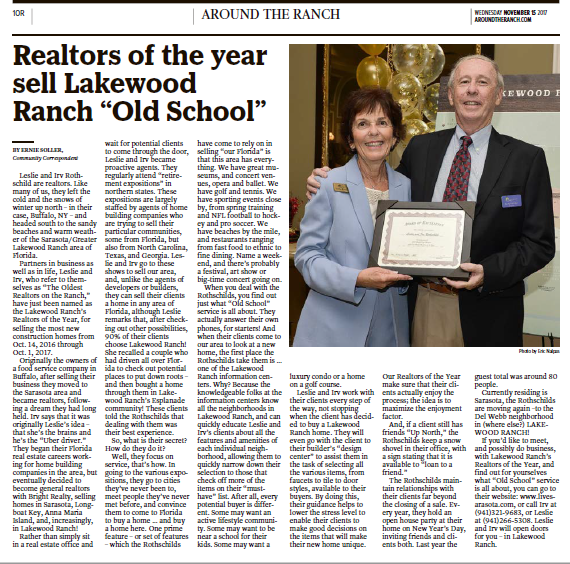 Realtors of the year sell Lakewood Ranch Old School